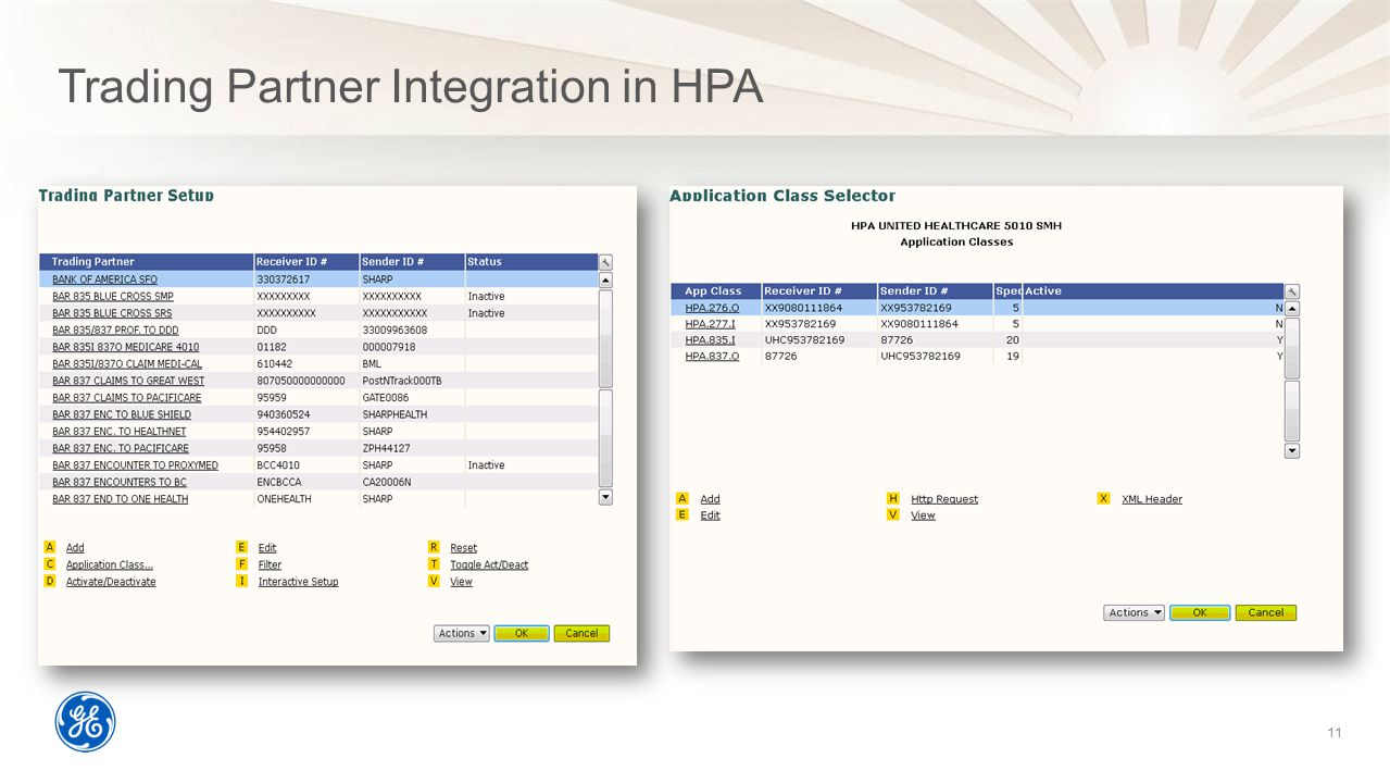 Trading Partner Integration in HPA