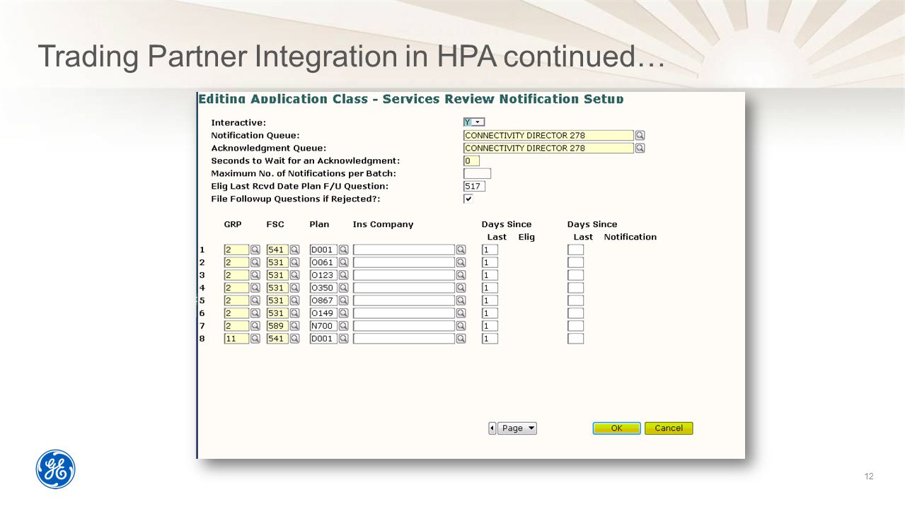 Trading Partner Integration in HPA continued…