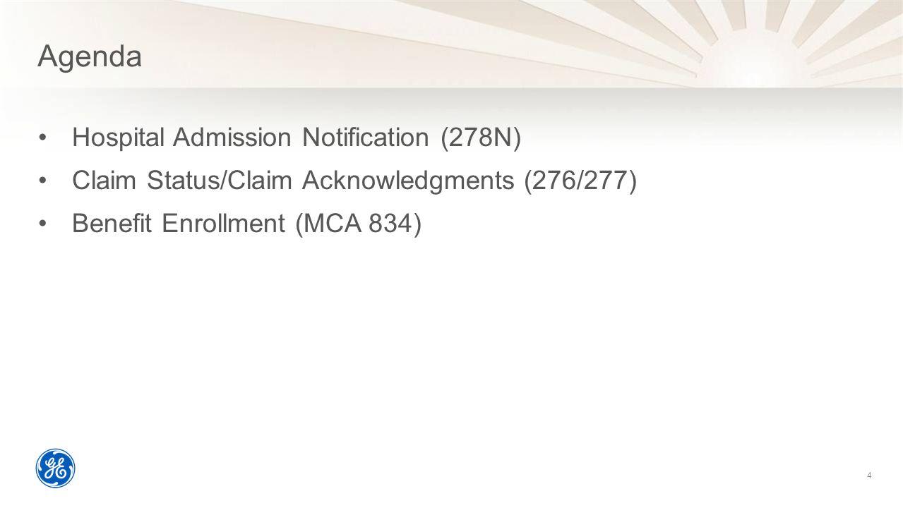 Agenda Hospital Admission Notification (278N)