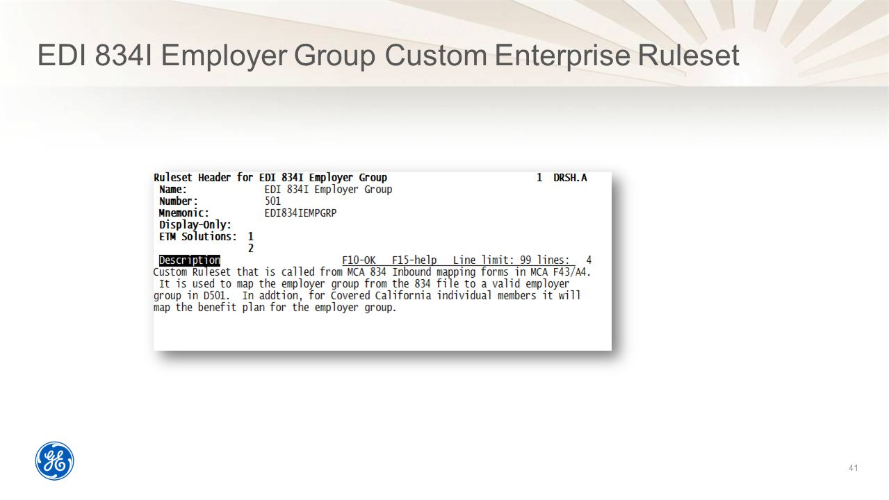 EDI 834I Employer Group Custom Enterprise Ruleset