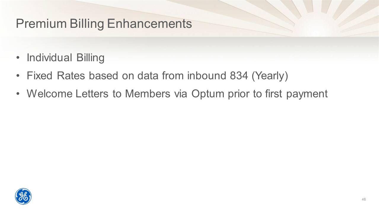 Premium Billing Enhancements