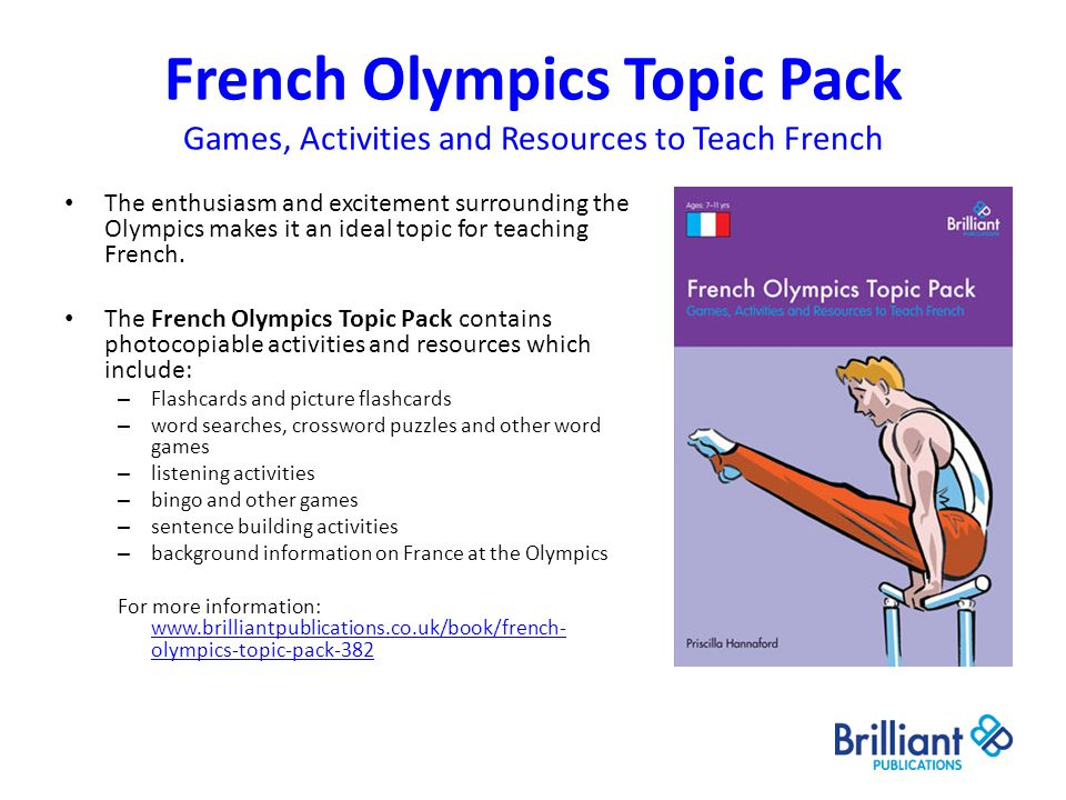 French Olympics Topic Pack Games, Activities and Resources to Teach French