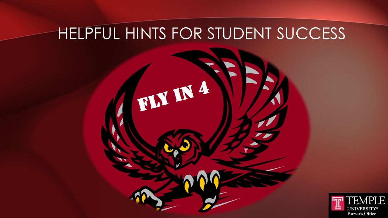 Helpful Hints for Student Success