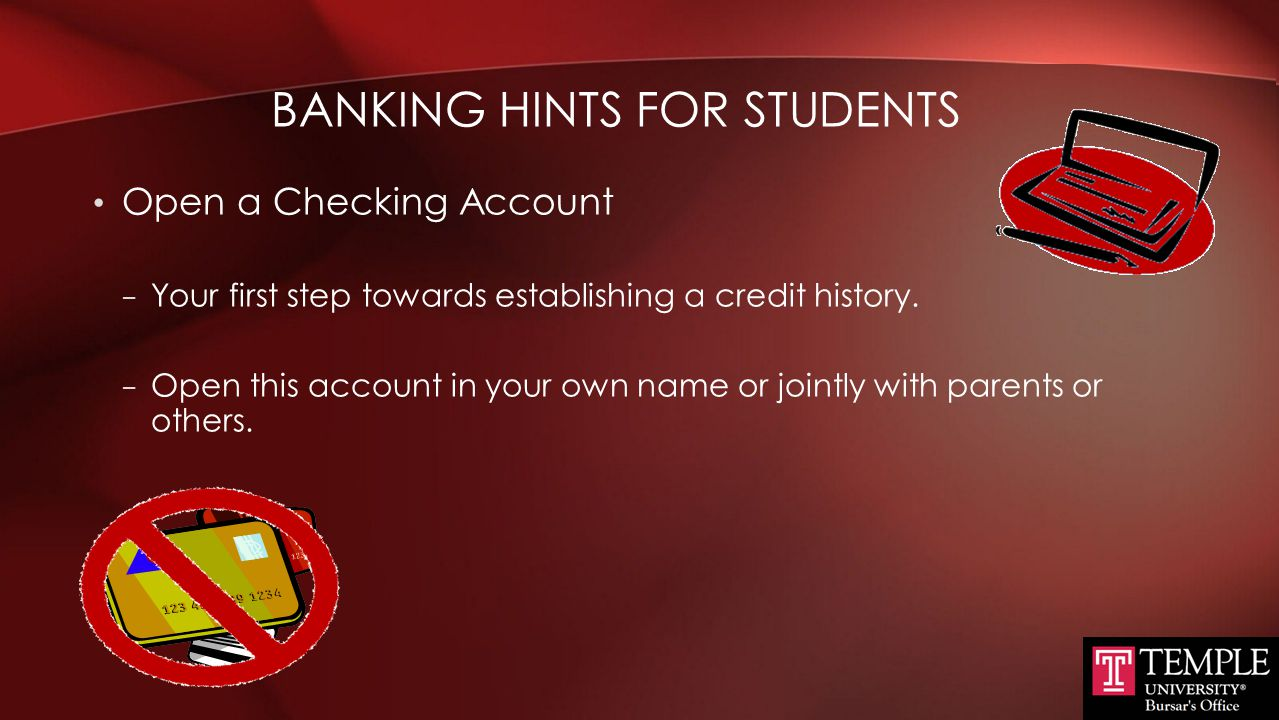 Banking Hints for Students