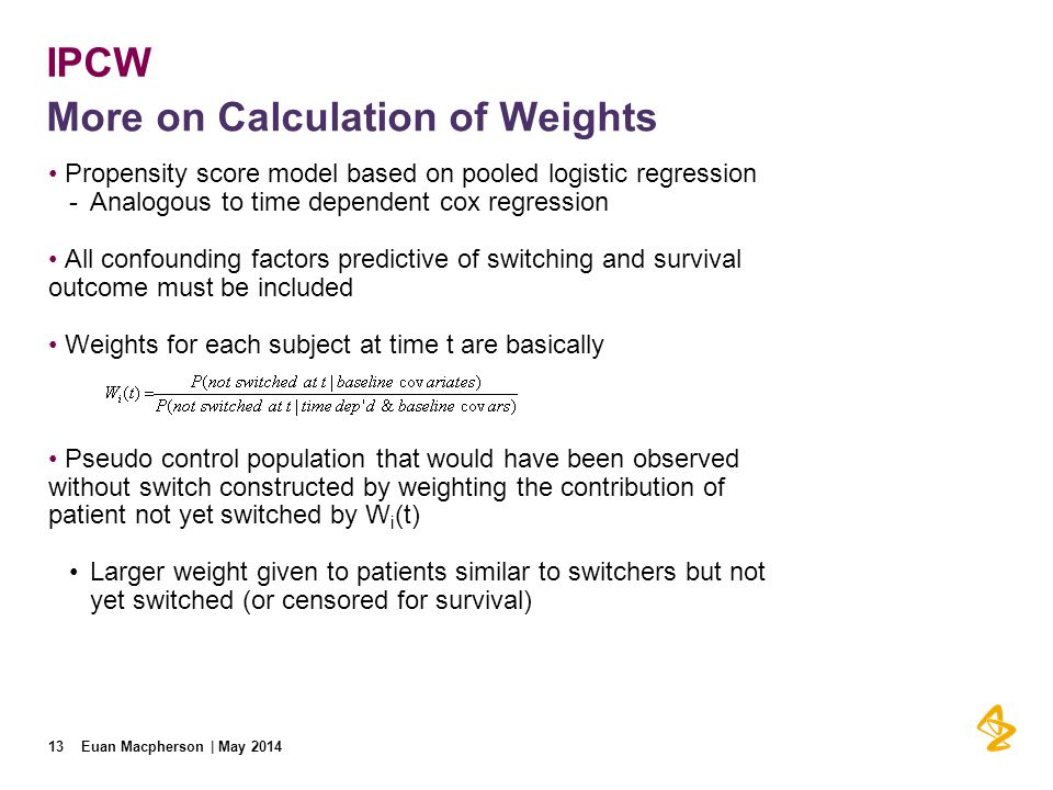 More on Calculation of Weights