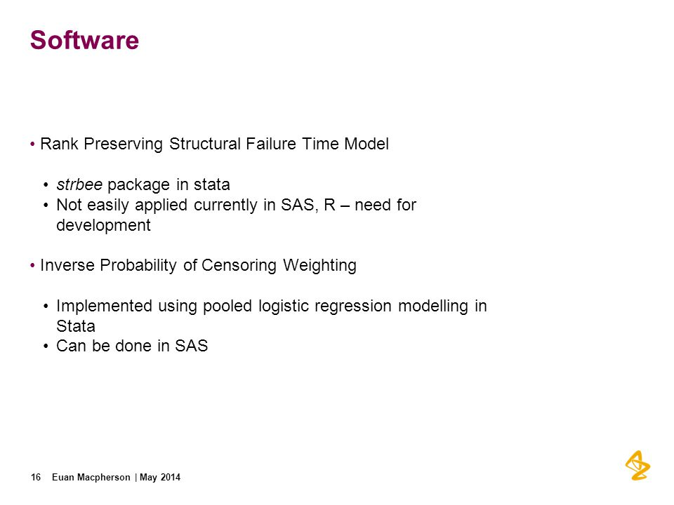 Software Rank Preserving Structural Failure Time Model