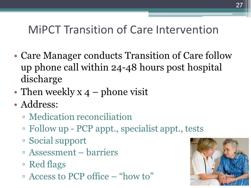 MiPCT Transition of Care Intervention