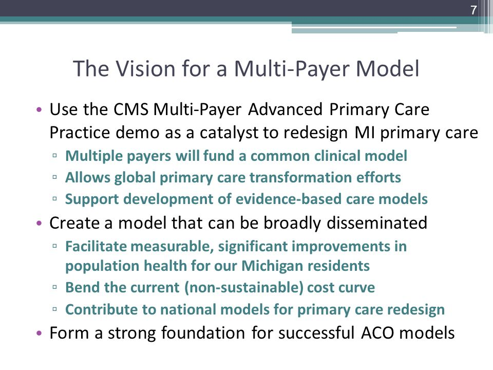 The Vision for a Multi-Payer Model
