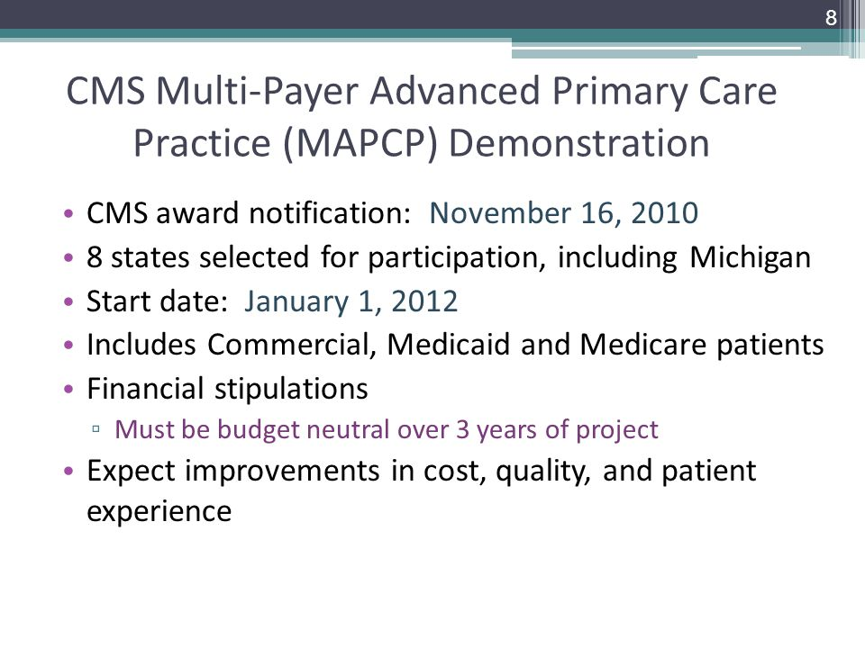 CMS Multi-Payer Advanced Primary Care Practice (MAPCP) Demonstration