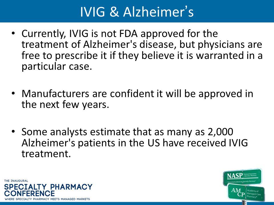 IVIG & Alzheimer's