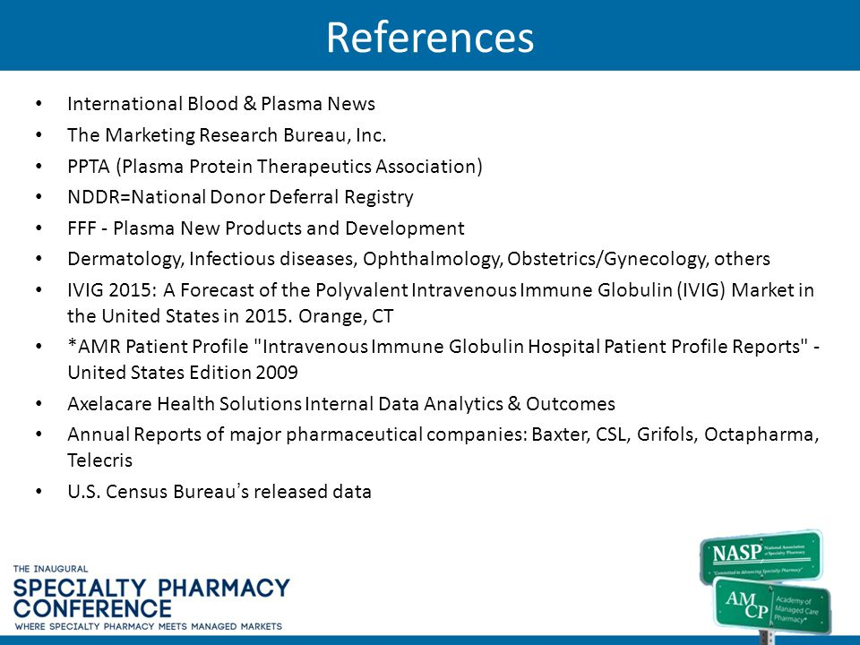 References International Blood & Plasma News