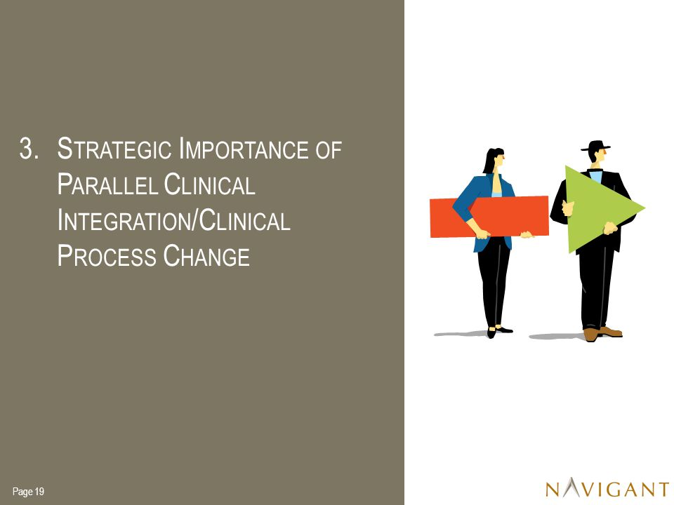 Strategic Importance of Parallel Clinical Integration/Clinical Process Change