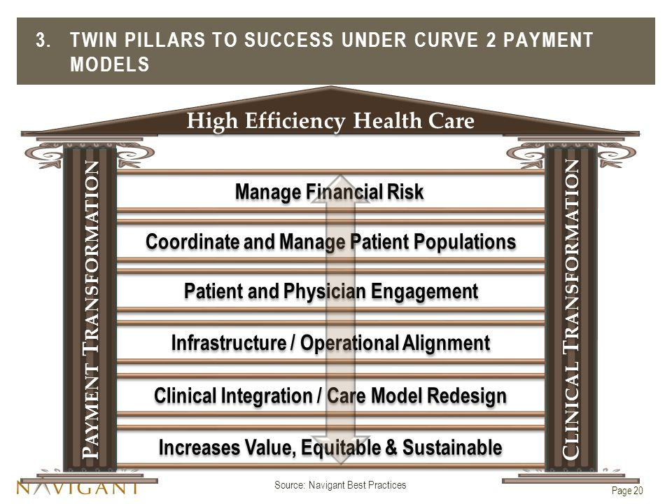 3. Twin Pillars to Success Under Curve 2 Payment Models