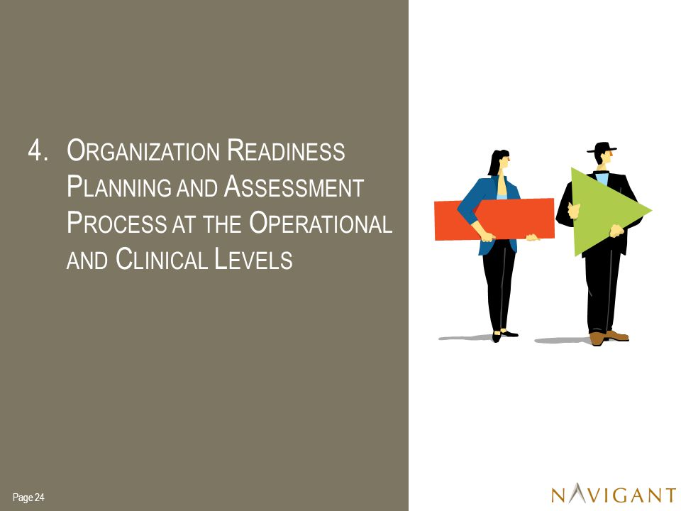 Organization Readiness Planning and Assessment Process at the Operational and Clinical Levels