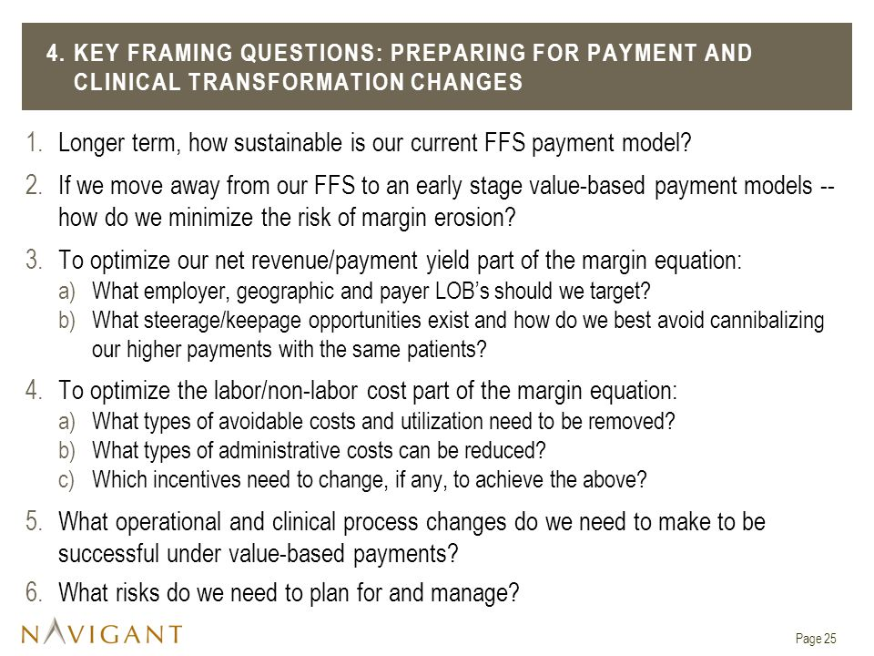 Longer term, how sustainable is our current FFS payment model