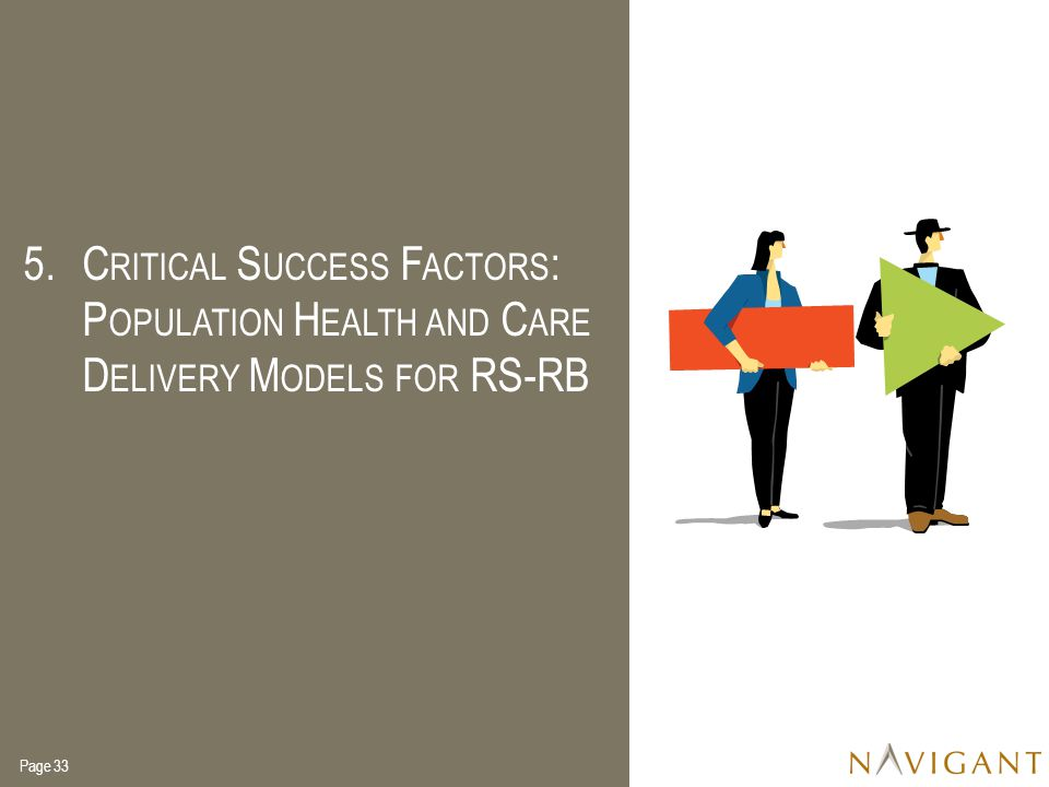 Critical Success Factors: Population Health and Care Delivery Models for RS-RB
