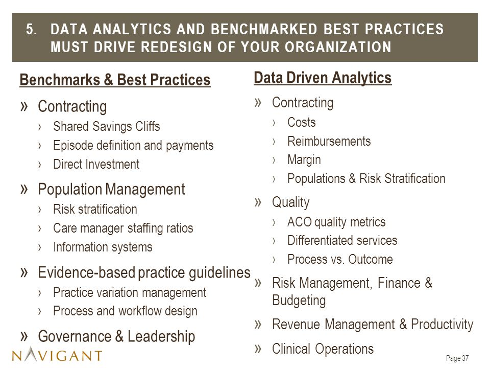Benchmarks & Best Practices Contracting