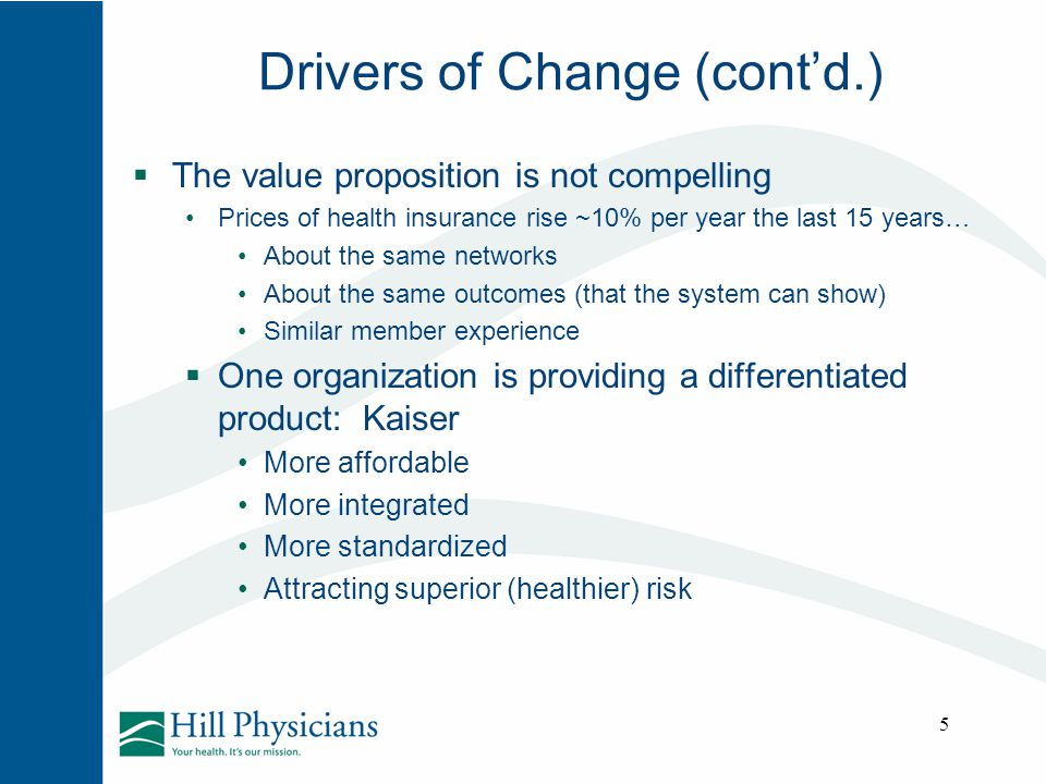 Drivers of Change (cont'd.)