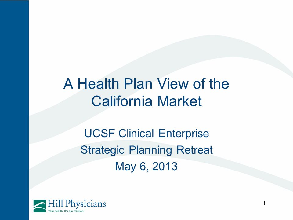 A Health Plan View of the California Market