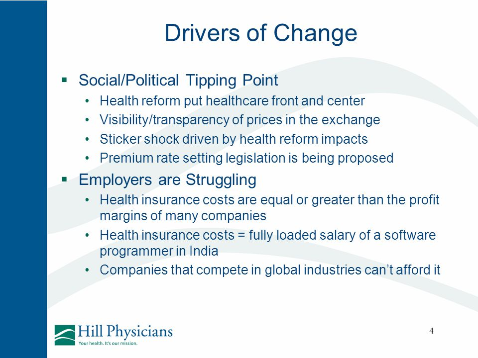 Drivers of Change Social/Political Tipping Point