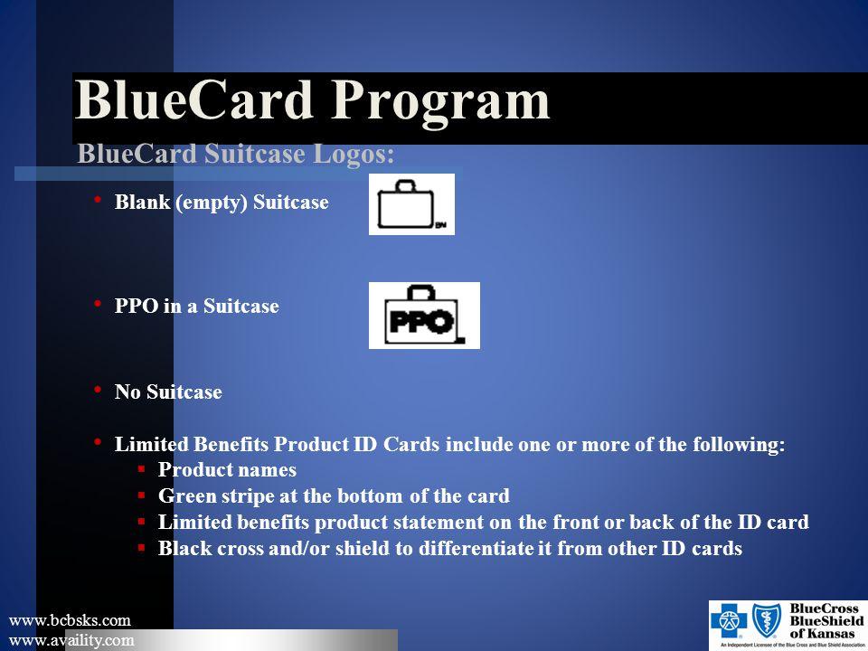 BlueCard Program BlueCard Suitcase Logos: Blank (empty) Suitcase