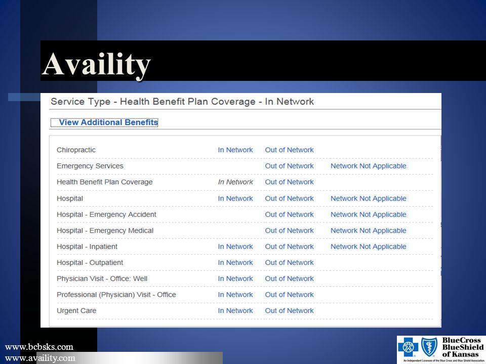 Availity www.bcbsks.com www.availity.com