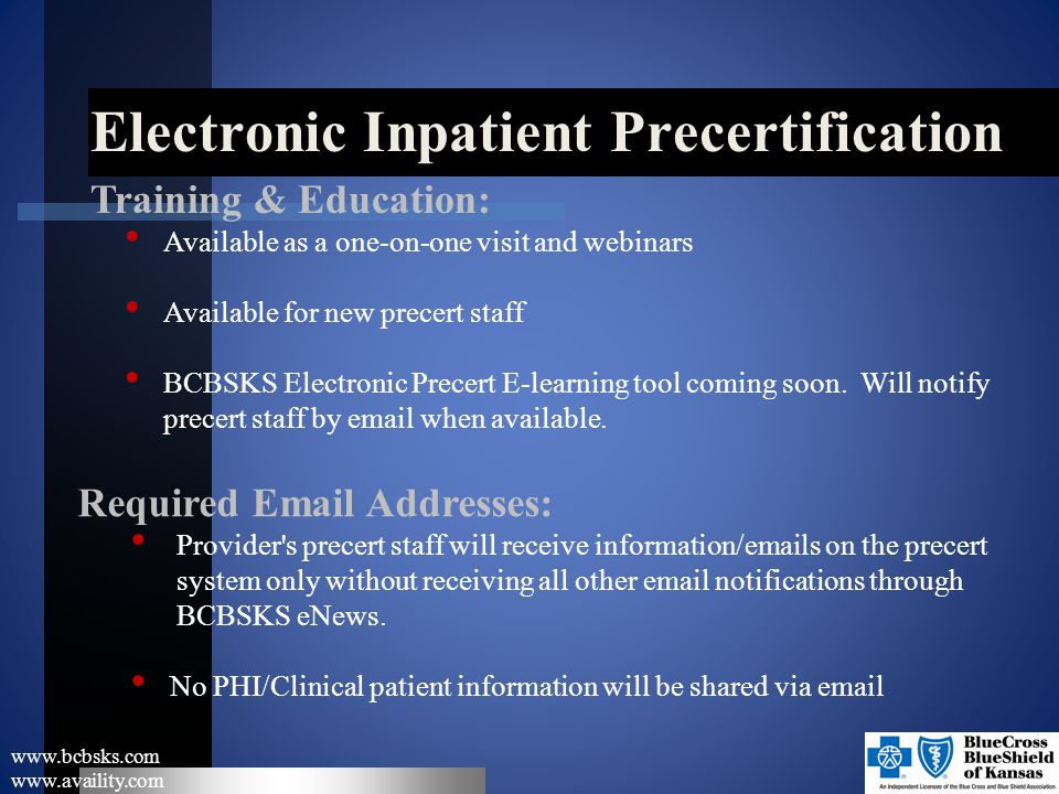 Electronic Inpatient Precertification