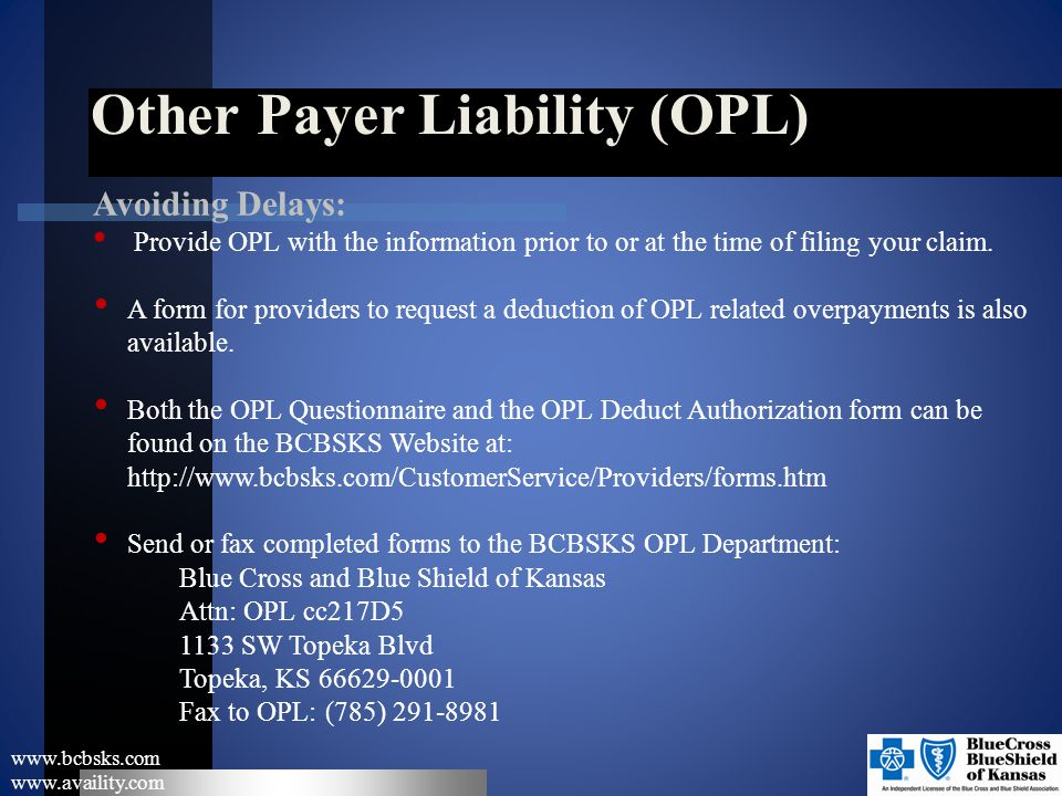 Other Payer Liability (OPL)