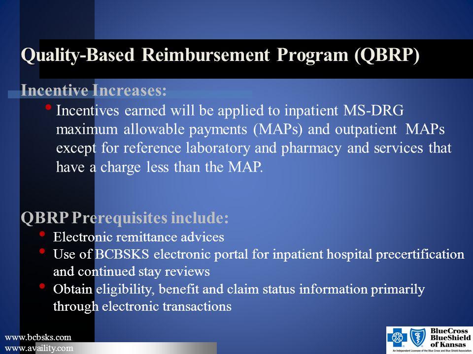 Quality-Based Reimbursement Program (QBRP)