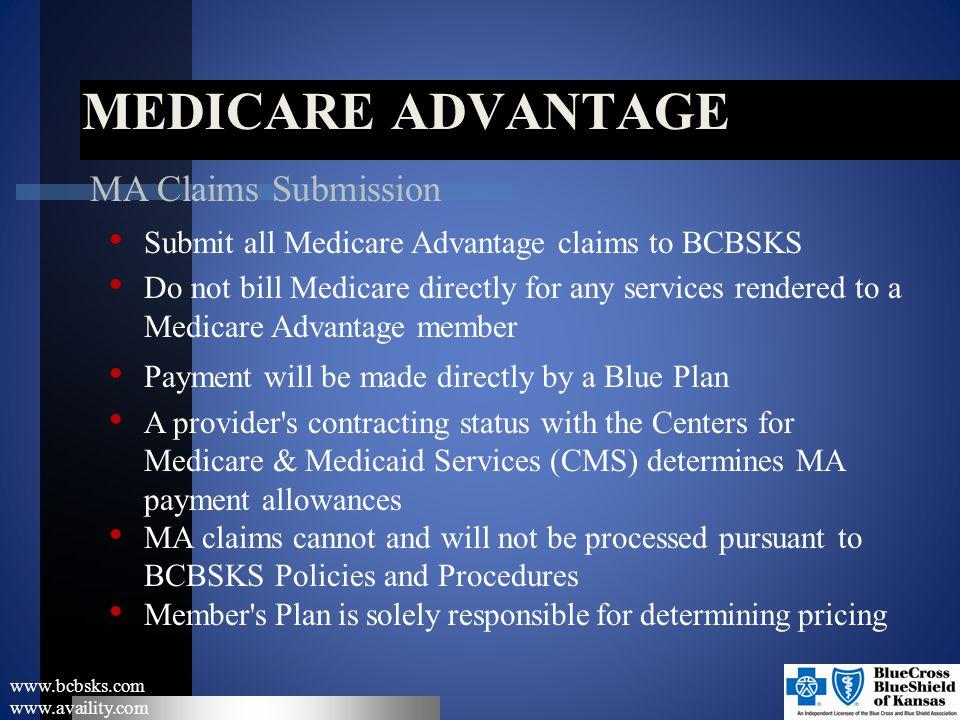 Medicare Advantage MA Claims Submission