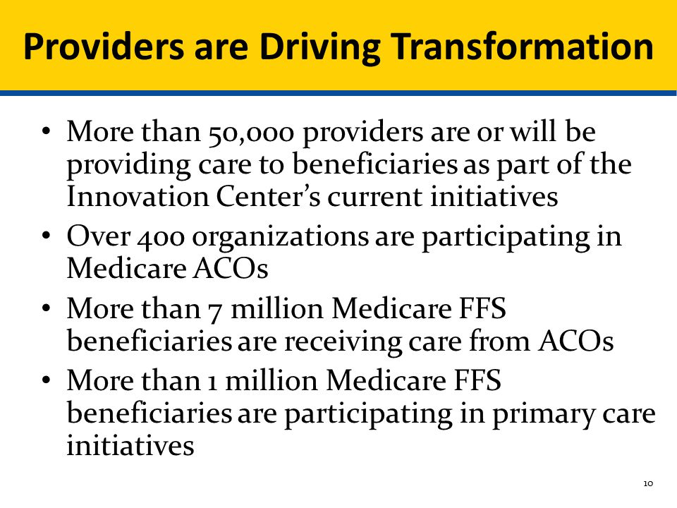 Providers are Driving Transformation