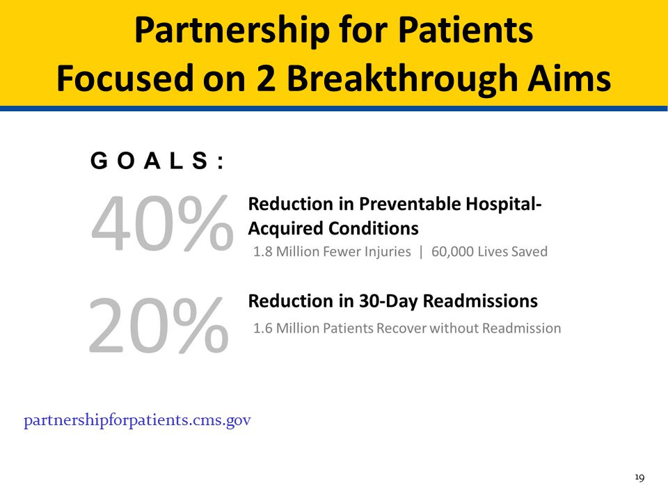 Partnership for Patients Focused on 2 Breakthrough Aims