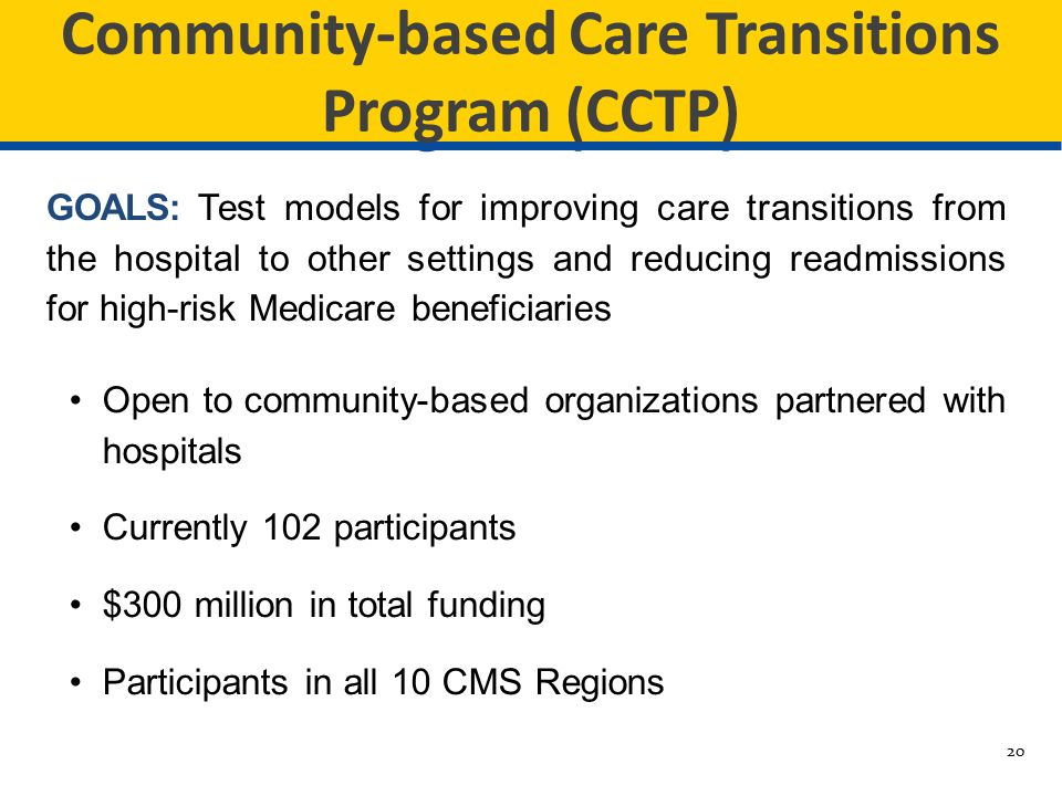 Community-based Care Transitions Program (CCTP)