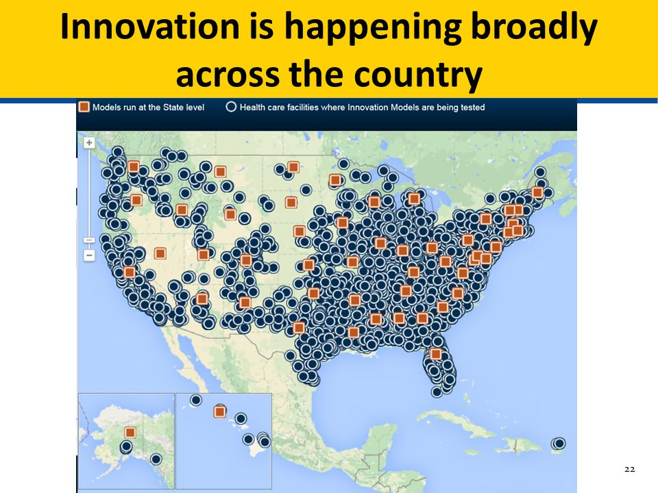 Innovation is happening broadly across the country