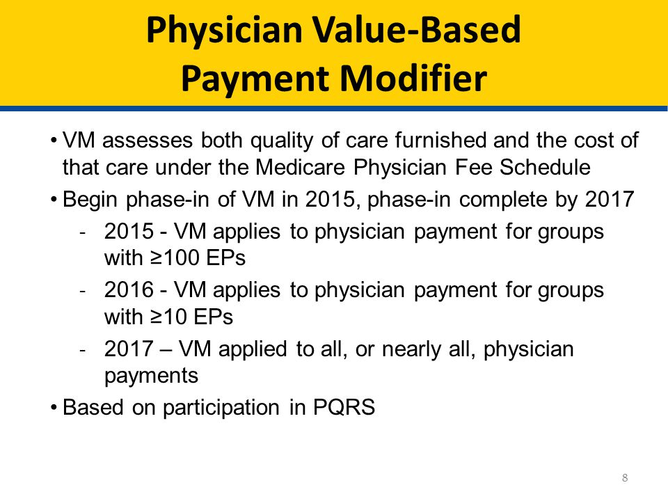 Physician Value-Based Payment Modifier