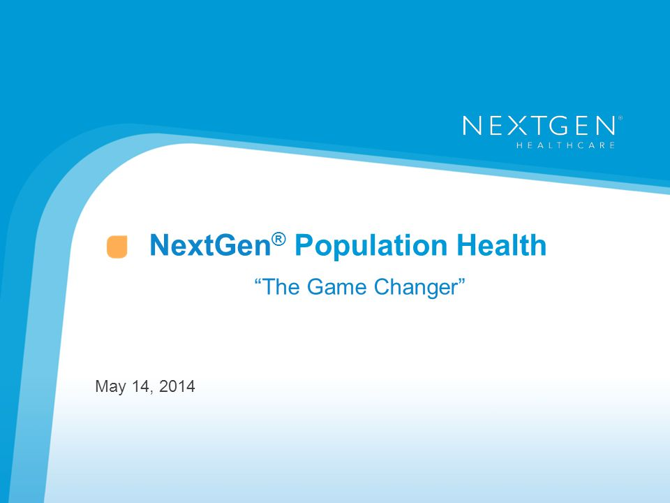 NextGen® Population Health
