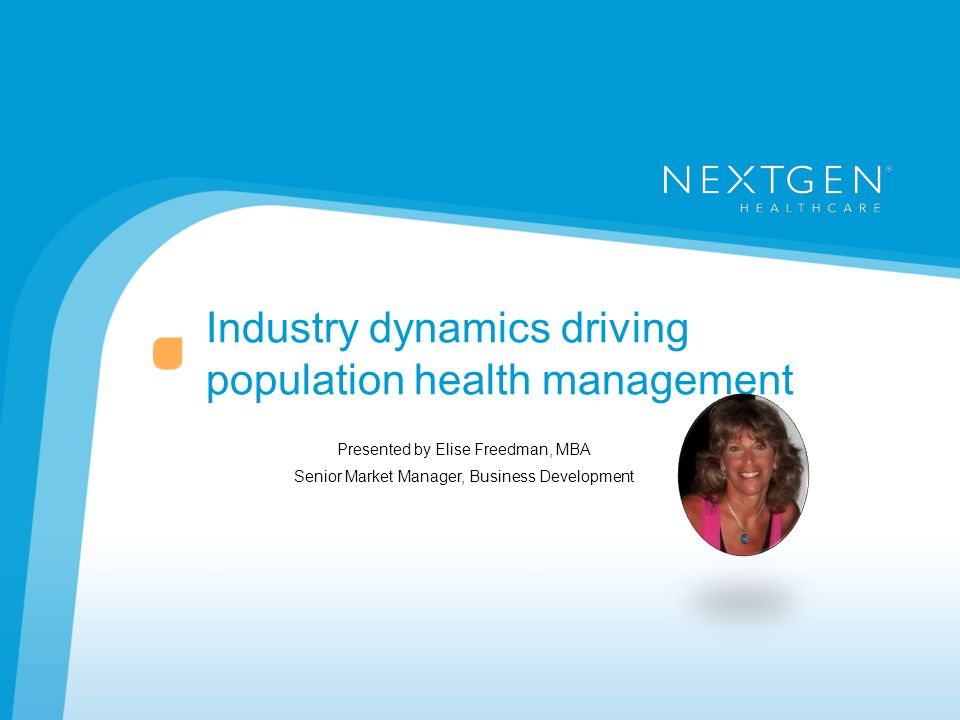 Industry dynamics driving population health management