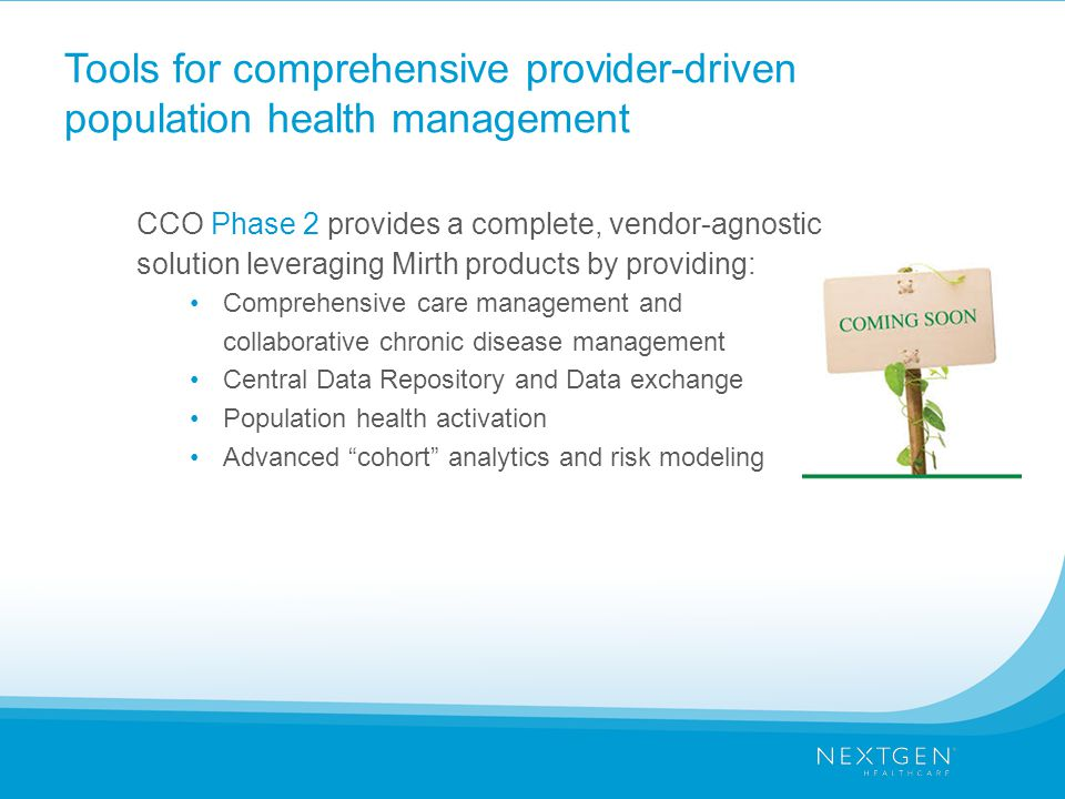 Tools for comprehensive provider-driven population health management