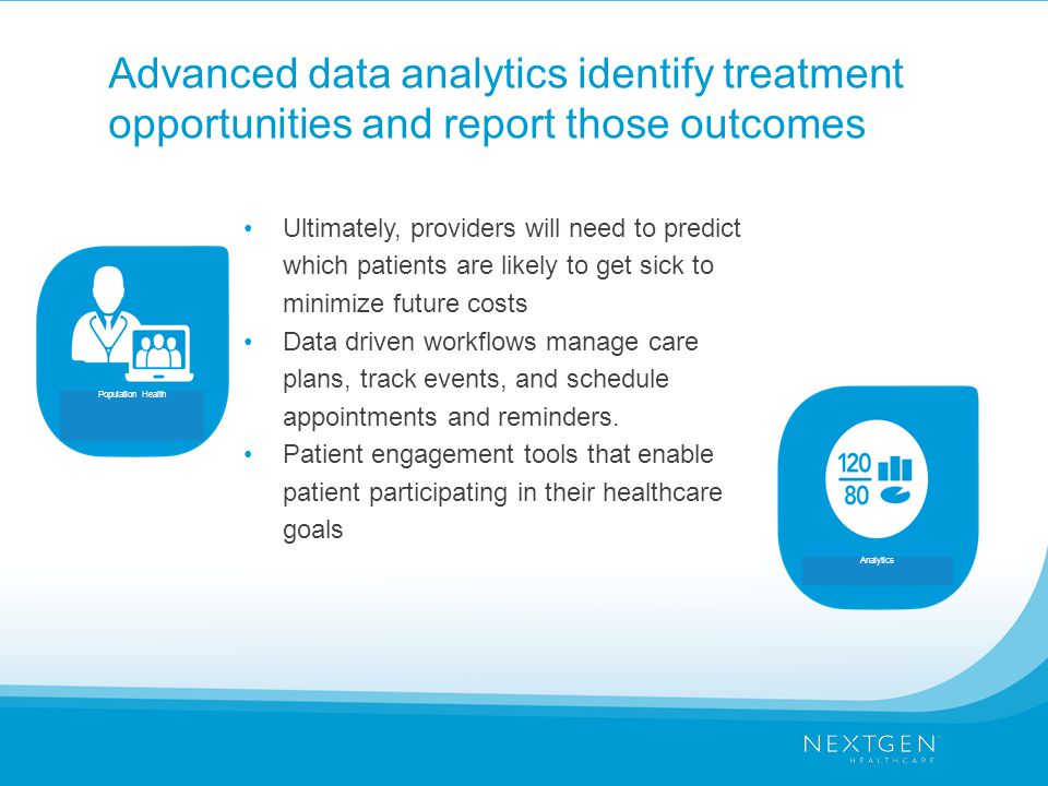 Advanced data analytics identify treatment opportunities and report those outcomes