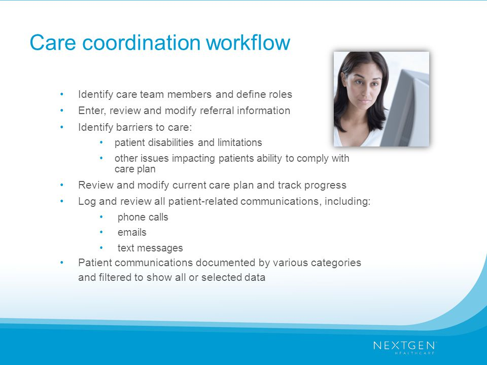 Care coordination workflow
