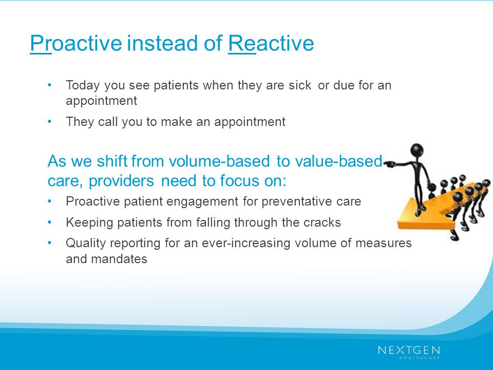 Proactive instead of Reactive