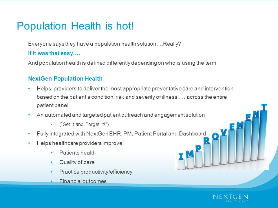Population Health is hot!