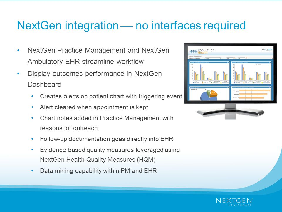 NextGen integration  no interfaces required