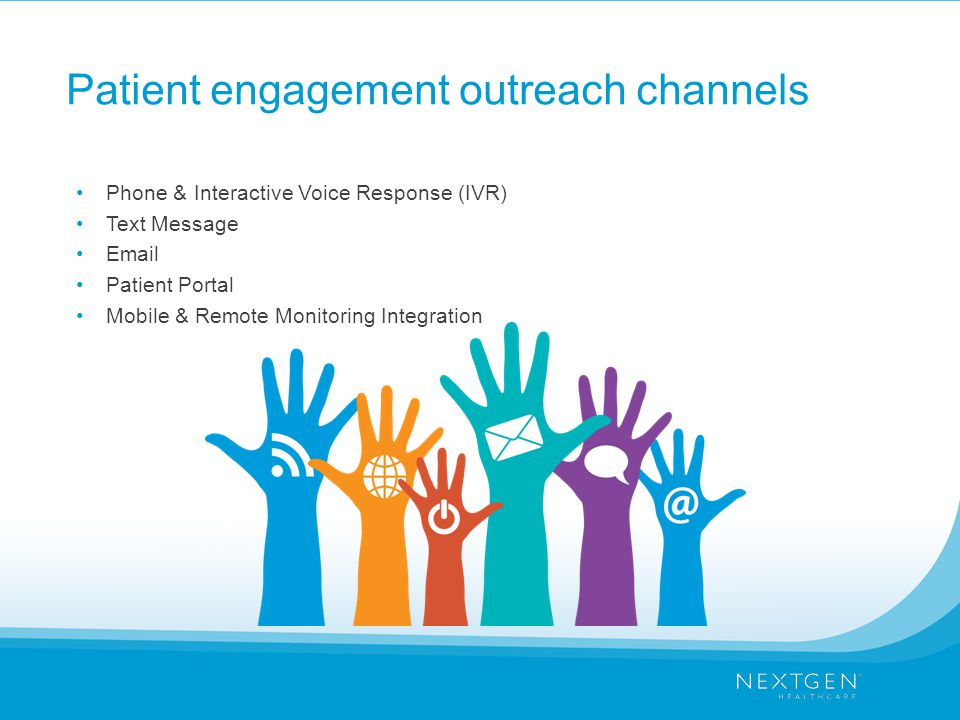 Patient engagement outreach channels