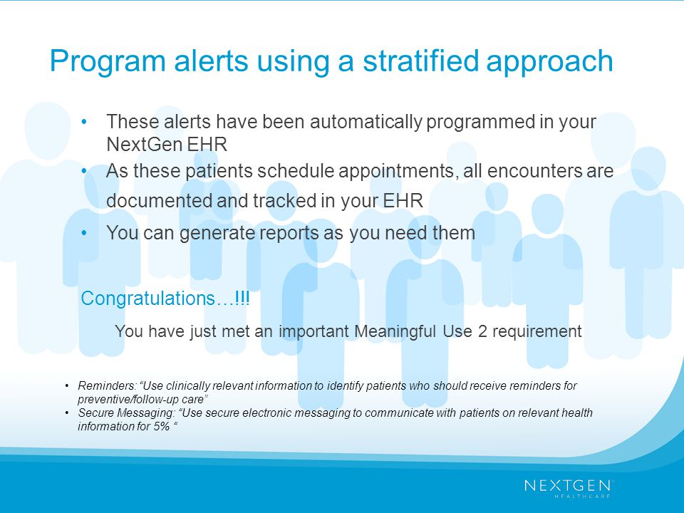 Program alerts using a stratified approach