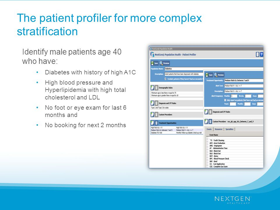 The patient profiler for more complex stratification