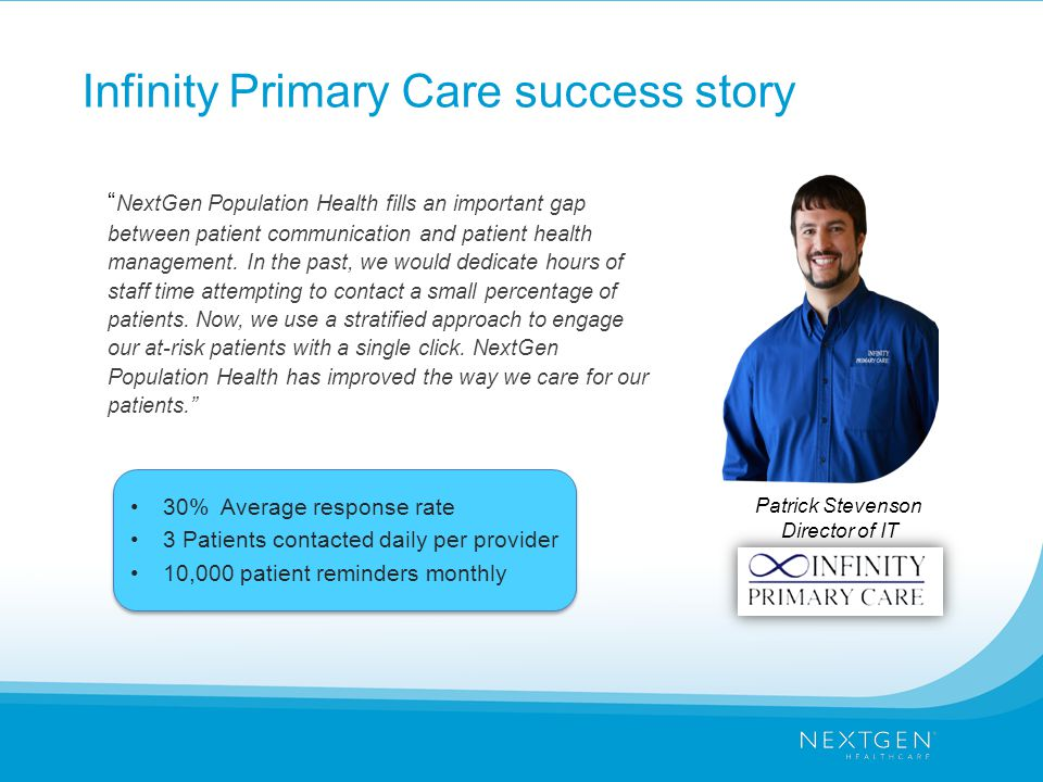 Infinity Primary Care success story