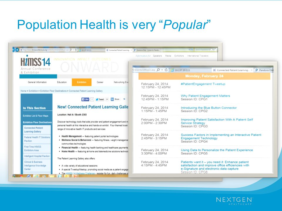 Population Health is very Popular