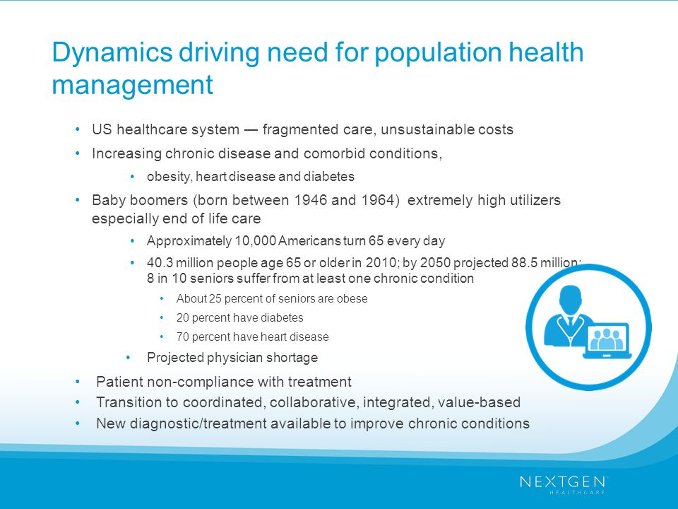 Dynamics driving need for population health management