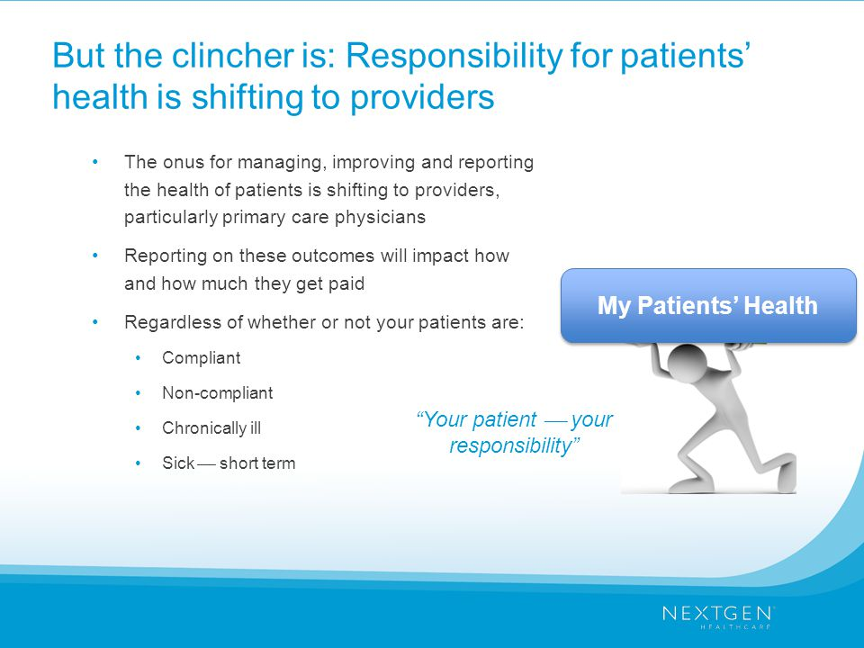 Your patient  your responsibility